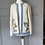 Thumbnail: Vintage 80s wool blend cream/blue/gold cardigan UK 12