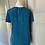 Thumbnail: BNWT Zara women's Teal silk top Uk XS
