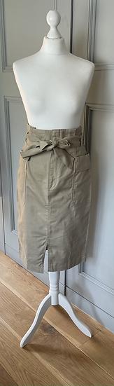 BNWT H&M tan cotton midi skirt Uk 10