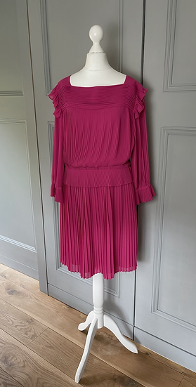 Alice by Alice Temperley pink pleated dress  Uk 12