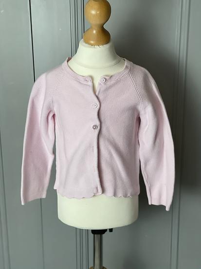 Girls Jacadi pink cardigan 24months