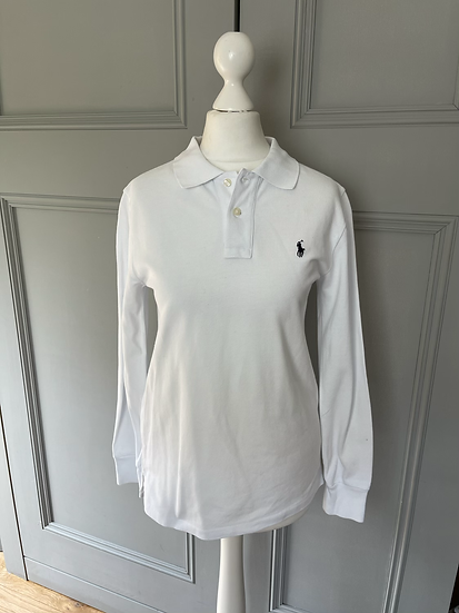 Polo Ralph Lauren long sleeve white top age 12