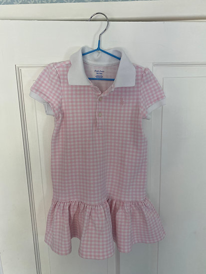 Girls Lauren t-shirt dress pink gingham ( 24 months)