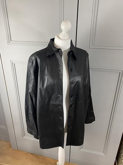 Leather lightweight jacket dark brown. L/XL