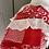 Thumbnail: Vintage red floral maxi dress Uk 10