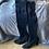 Thumbnail: Stuart Weitzman black thigh high suede boots. Uk8