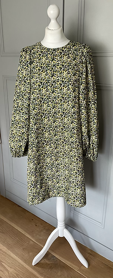 H&M yellow and white floral dress Uk M