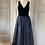 Thumbnail: Vintage Laura Ashley navy velvet/taffeta maxi dress. Modern Uk 10