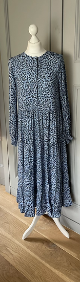 Zara blue maxi floaty dress UK M