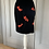 Thumbnail: Vintage Escada black velvet skirt with fun beading. Uk8/10 Waist 26""