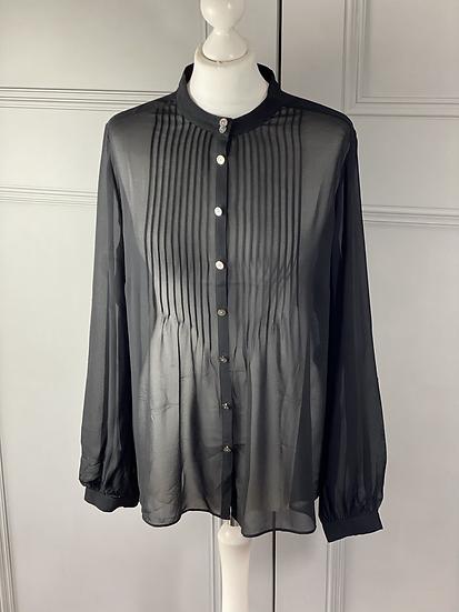 Jaeger black silk blouse. 16