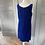 Thumbnail: Vintage Victor Josselyn blue velvet dress with bow. 12/14 £45