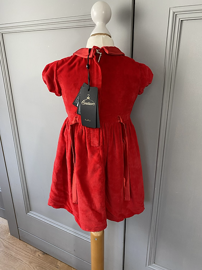 Couture BNWT red velvet party dress. 2-3yrs