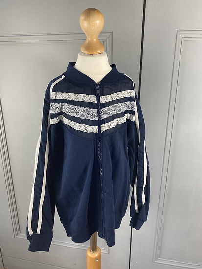 Ermanno Scervino lace zip up top 10yrs