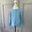 Thumbnail: Girls Rachel Riley blue jewelled button cardigan. 4yrs