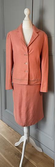 Philosophy Di Alberta Ferretti coral pink skirt suit