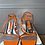 Thumbnail: Gina ornage leather sandals-  size 36