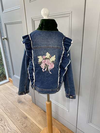 Monnalisa denim jacket with embroidery 10yrs
