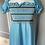 Thumbnail: Girls blue maxi dress age dresses 10-14