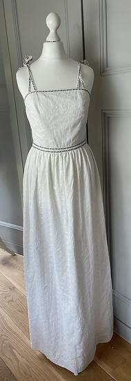 Vintage white maxi sun dress Uk8