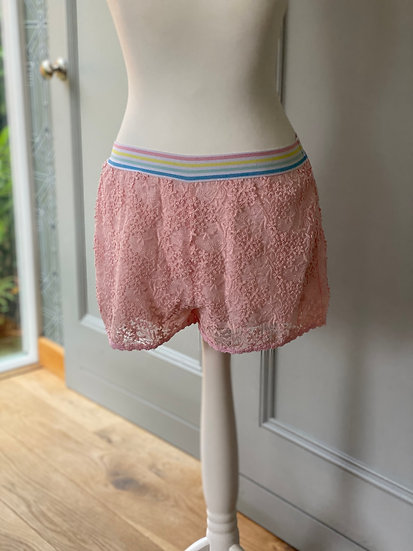 Ermanno Scervino Junior pink lace shorts 12yrs