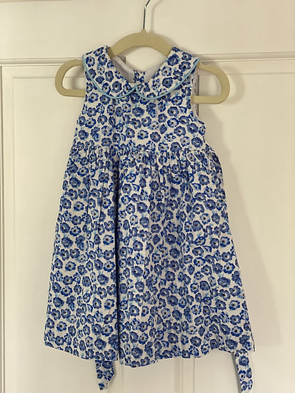 Blue floral Rachel Riley dress (18 months)