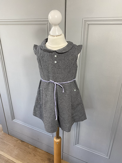 Girls Marie Chantal grey wool dress 2/3yrs