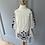 Thumbnail: BNWT Pampelone girls white and navy dress age 3-4
