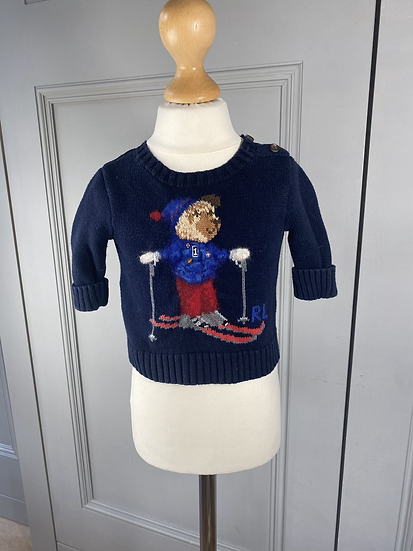 Ralph Lauren ski bear jumper.3mths