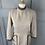 Thumbnail: Vintage cream/brown tweed dress with velvet trim. UK6/8