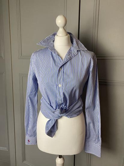 Ralph Lauren blue/white cotton shirt. Uk10/12