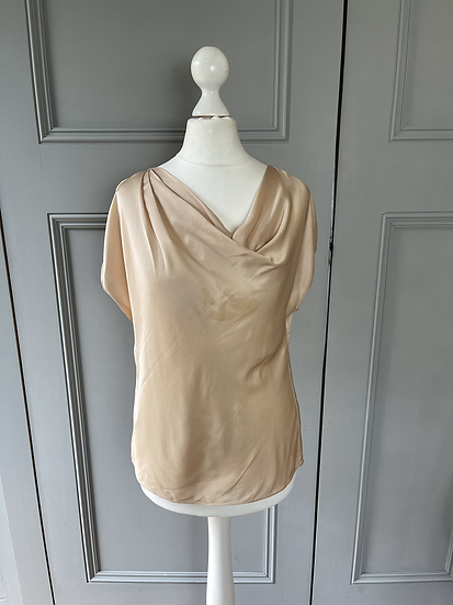 L.K Bennet silk cowl neck top. UK6-10