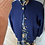 Thumbnail: Vintage Pringle navy wool cardigan with gold buttons. 12/14