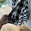 Thumbnail: Vintage B&W gingham shirt dress UK10-14