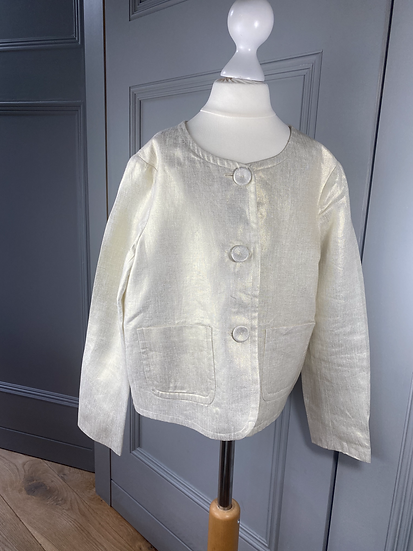 Girls BONPOINT cream/gold jacket. 10yrs (rrp £250)