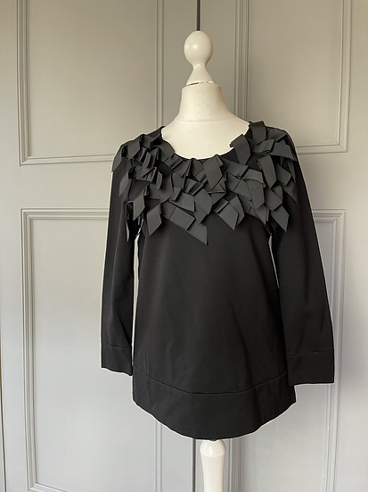 ISSA - black ribbon/bow top UK8/10