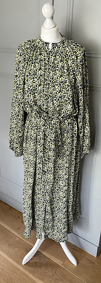 BNWT H&M  green and yellow floral dress Uk M
