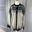 Thumbnail: Vintage Norwegian light grey cardigan with silver moose buttons. Large