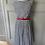 Thumbnail: Rachel Riley navy/white cotton striped dress. Uk 10