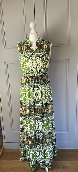 Alice and Olivia green patterned dress UK 8