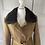 Thumbnail: Vintage heavy wool brown tweed coat with faux fur UK8/10