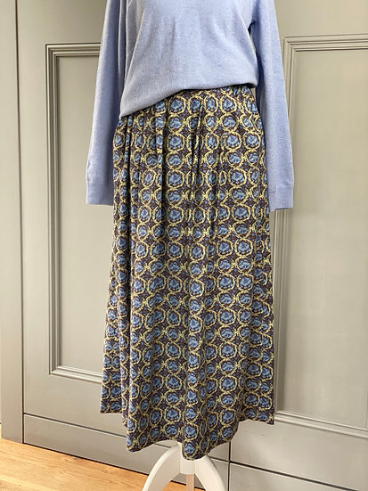 Vintage LIBERTY cotton/wool mix skirt (NEW) UK6-10