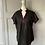 Thumbnail: Black cotton oriental style top. UK12