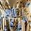 Thumbnail: Rachel Riley floral brown/blue 50s dress. UK8/10