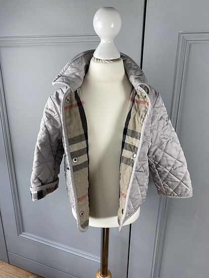 Burberry girls/boys quilted diamond coat, beige, 2yrs