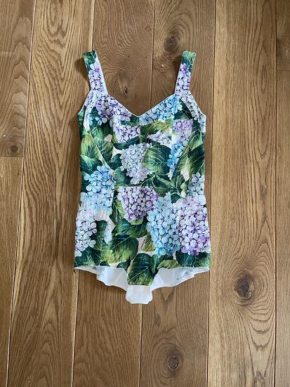 BNWT Dolce & Gabbana hydrangea print corset body suit. Uk 8/10
