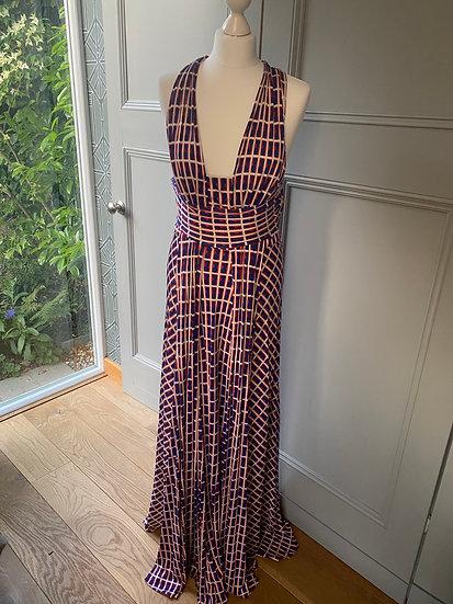 ISSA silk jersey maxi dress (UK12)
