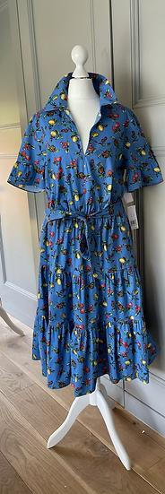 BNWT Donna Morgan blue cotton dress uk 12-16