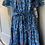 Thumbnail: BNWT Donna Morgan blue cotton dress uk 12-16