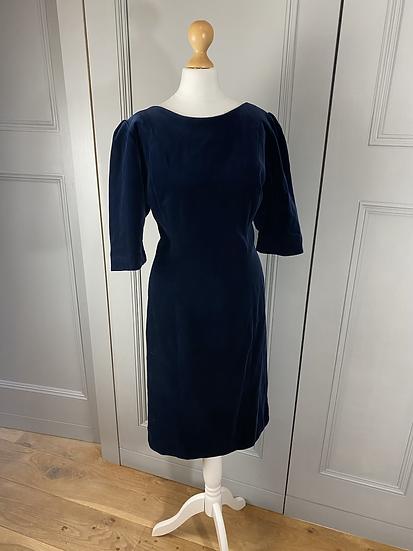 Vintage navy shift dress uk12